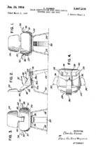 Eames Molded Plywood Potato Chip Chair Design Patent D-155,272