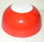 Red Pyrex Bowl