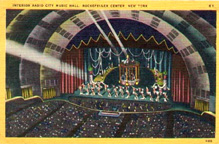 Postcard of the Stage at Radio City Music Hall