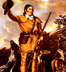 Heroic Portrait of Davy Crockett