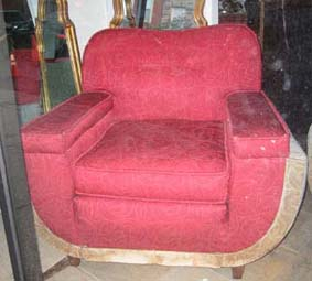 The Red Sculpted Pile Deco Chair