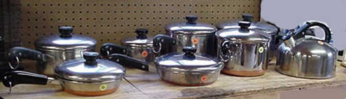 Varieties of Revere Ware Available