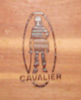 1950s  Cavalier Cedar Chest woodburned trademark