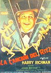 Harry Richman Poster for Puttin on the Ritz in Spanish