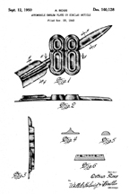 Olds Rocket 88 Badge, Design patent D-160,128