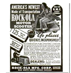 Ad for the Rockola Scooter from Popular Mechanics, August 1938