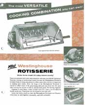 Advertisement for Rotisserie Attachment -- Westinghouse Roaster