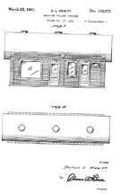 Gas Station design patent D-106,993