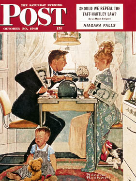 Norman Rockwell 10-30-40 SEP Cover