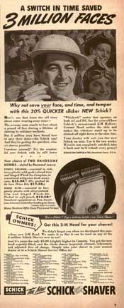 Schick Ad from LIFE magazine Oct 6, 1941