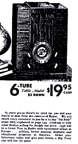 1938 Sears Catalogue Ad for the M-1938 Table Radio