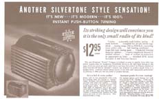 Sears Catalogue ad for he Silvertone Model 6110 Table Radio