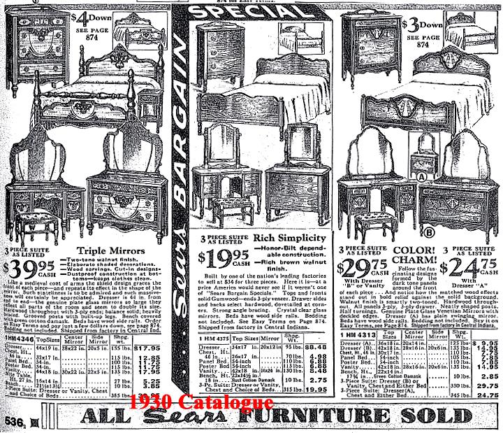 . 1930 s Sears Roebuck Bedroom Set