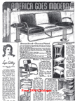 Sears Furniture Catalogue Page from 1936