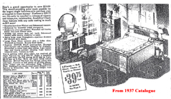 Sears Furniture Catalogue Page from 1930