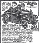 1936 Sears Catalogue ad for the Lincoln Roadster