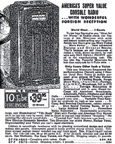 1938 Sears Catalogue ad for the Model 4685 Console Radio