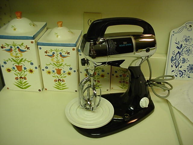 The Chrome, solid state Sears Mixer