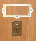 Shannons Cavalier Cedar Chest presentation plaque and badge