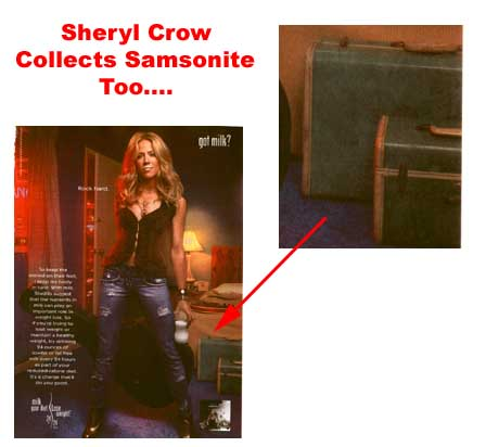 Sheryl Crow and Samsonite