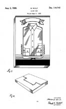 Shirt Box design patent D110742