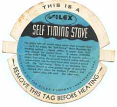 >Silex Coffee Maker Stove label