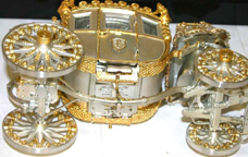 Silver Anniversary Edition of the Napoleonic Coach -- underside showing inscription