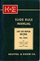 K E Slide Rule Instruction Booklet