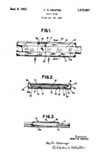 K E Slide Rule Patent No.1,875,927