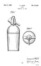 1940 Design Patent 121,052 for the Sparklet Syphon