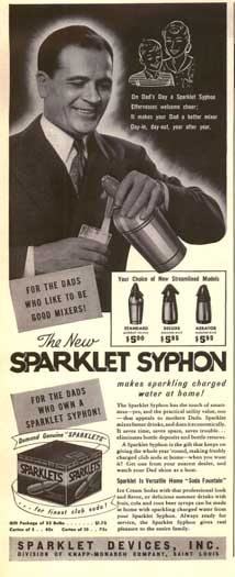 Sparklett Syphon Ad, March 1941