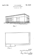 Standard Oil of New Jersey Service Station Design Patent D-86,691
