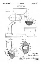 Sunbeam Mixmaster Juice Strainer Patent No. 2,019,771