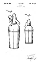 1940 Design Patent 101421 for the Sparklet Syphon