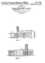 Teague Conoco Gas Station Design Patent D-175,051