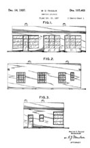 Teague Texaco Service Station Design Patent D-107,463