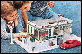 Toy Model of the Teague Texaco Service Station