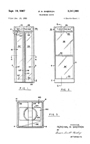 Aluminum and Glass Phone Booth Patent No. 3,341,988