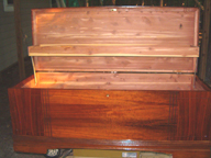 Tommys Cavalier Cedar Chest Pattern No. 707  Serial No.3389