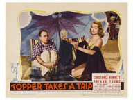 lobby card for the film Topper Takes a Trip