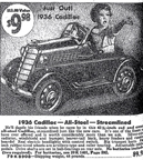Sears catalogue ad for the pedal car based on the 1936 Cadillac