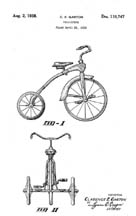 Tricycle Design patent D110747