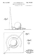 Trylon and Perisphere design patent D107425 - plan