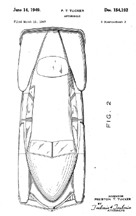 Tucker Design Patent D - 154,192