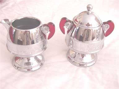 United Percolator Set cream and sugar
