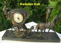 United Metal Goods Hansom Cab Clock