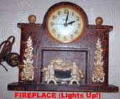 United Metal Goods Fireplace Clock