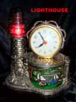 United Metal Goods Lightouse Clock
