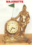 United Metal Goods Majorette clock