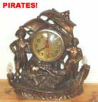 United Metal Goods Pirate clock